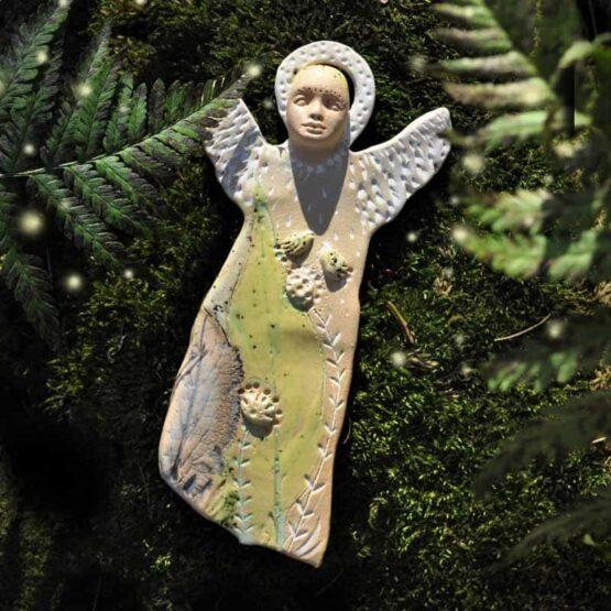 anioł ceramiczny zawieszka rękodzieło