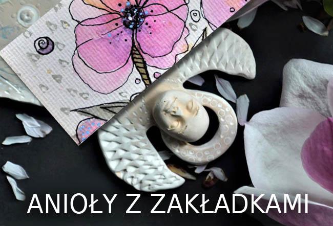 zestaw prezentowy z aniołek i zakładką do książki handmade