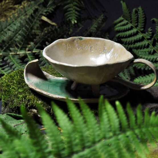 artystyczna ceramika arteliufilizanka ze spodkiem prezent dla kobiety