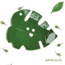 ceramiczna mydelniczka z dziurami zielona sklep z ceramiką artystyczną arteliu