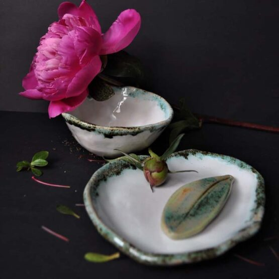 ceramiczny zestaw lazienkowy mydelniczka elius art arteliu