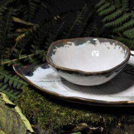 miska komplet ceramiczny ręcznie robiony