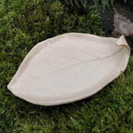 mydelniczka liść beżowa rękodzieło