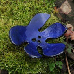 ceramiczna mydelniczka liść indygo