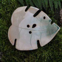 mydelniczka ceramiczna liść monstery