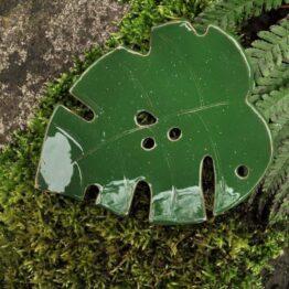 mydelniczka ręcznie robiona liść monstery oliwkowa