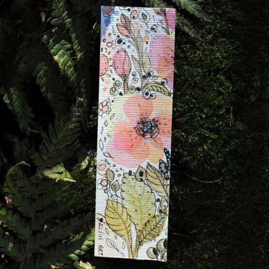 zakładka do książki ręcznie malowana