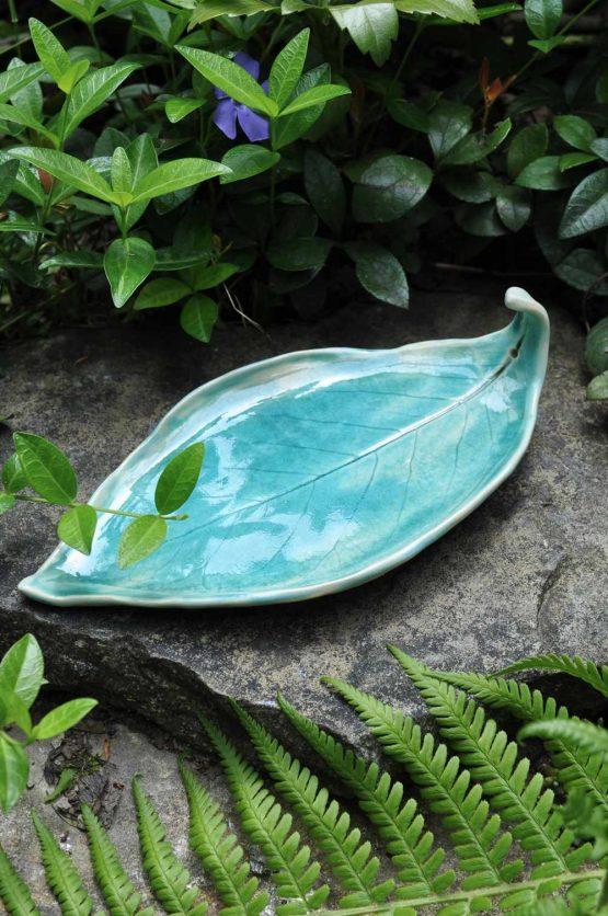 talerzyk na biżuterię niebieski błękitny ceramika artystyczna
