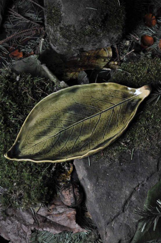talerz lisć zielony pod Palo Santo