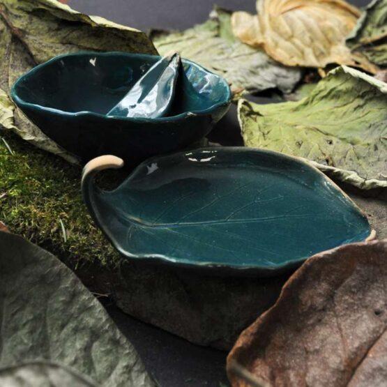 ceramiczny komplet do domowego spa z miską na glinki