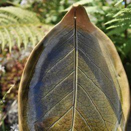 podstawka liść oliwkowa na kadzidła pod Palo Santo, białą