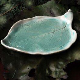 talerz na biżuterię turkusowy