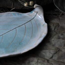 talerz na palo santo jasny nienieski szaroniebieski