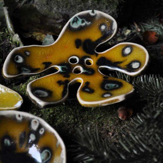 Rękodzieło z Mydelniczką w kształcie liścia i Miską na glinki