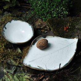 komplet ceramiczny rękodzieło do sushi