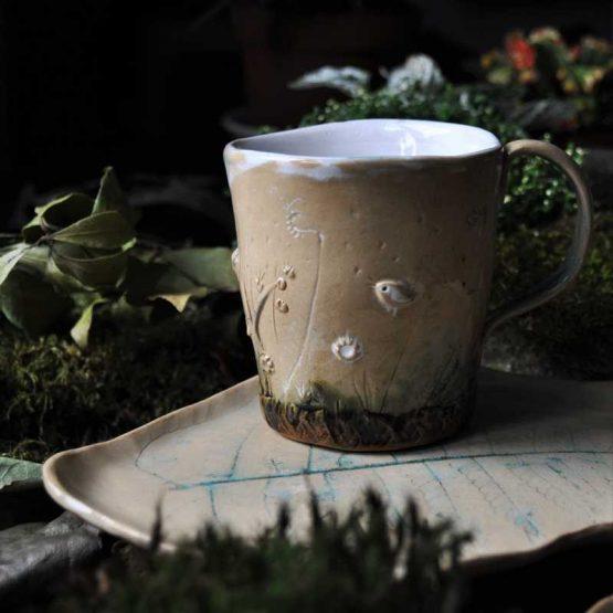 kubek ceramiczny ręcznie robiony unikat
