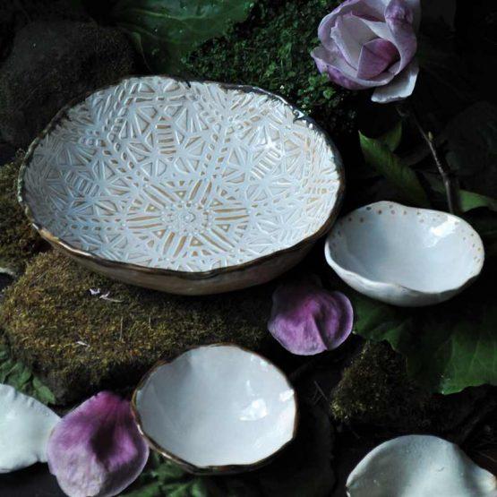 miski ceramiczne komplet mandala ceramika artystyczna arteliu