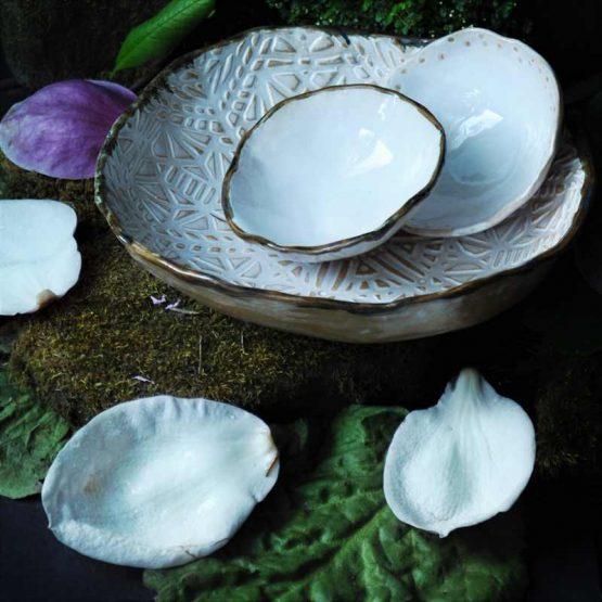 zestaw misek ceramicznych na prezent rękodzieło