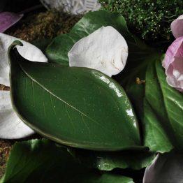 Ceramiczna mydelniczka zielona liść arteliu sklep online z ceramiką