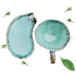 ceramiczna filiżanka ręcznie robiona turkusowa sklep arteliu z ceramiką
