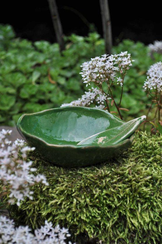 miseczka ceramiczna na maseczki ze szpatułką oliwkowa zieleń sklep z ceramiką artystyczną