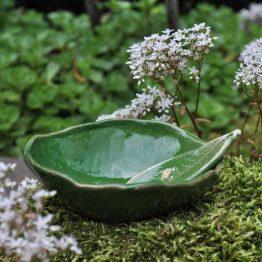 ceramiczna miseczka mała na algi zielona