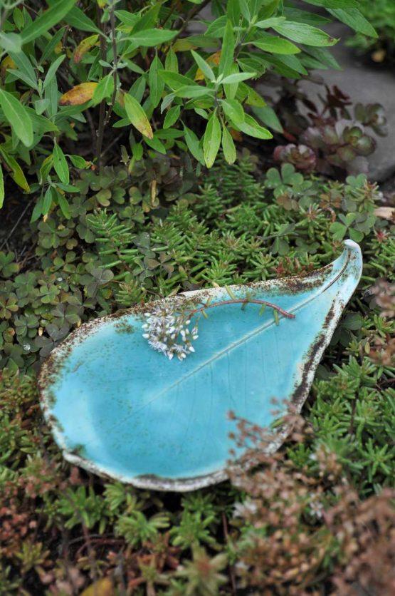 podstawka ceramiczna pod palo santo liść biżuterię sklep elius art