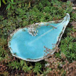 ceramiczny liść rękodzieło artystyczne sklep z ceramiką