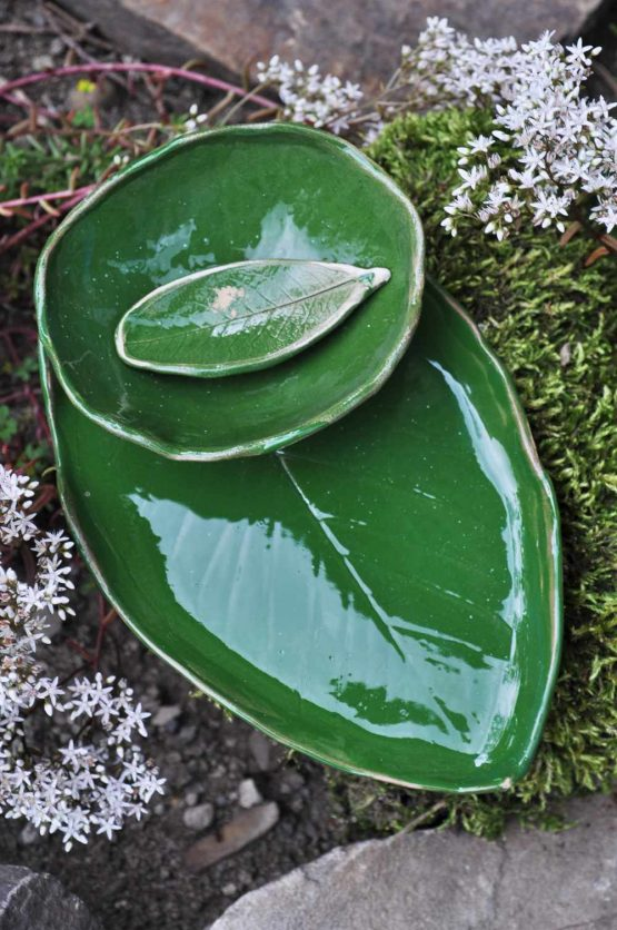 ręcznie robiony zestaw na sushi zielony sklep z ceramiką