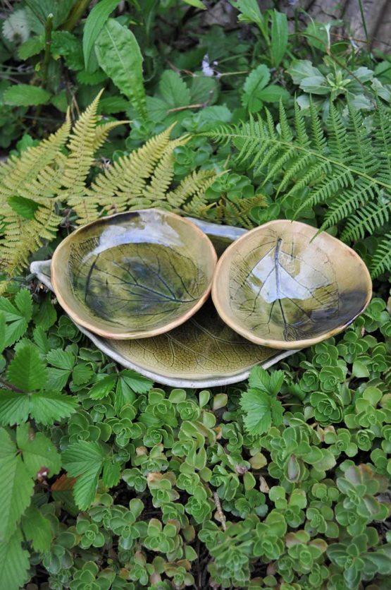 zestaw ceramiczny na sushi rękodzieło artystyczne zielony