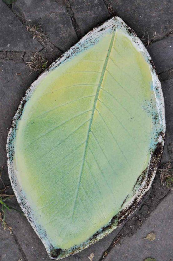 ceramiczny zestaw na sushi z talerzem liściem elius art sklep online