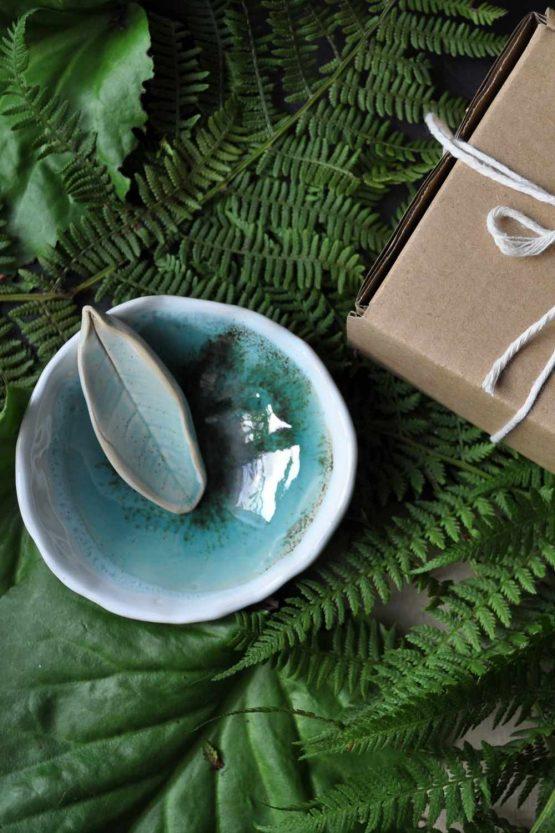ceramiczna miska do łazienki prezent dla kobiet rękodzieło artystyczne